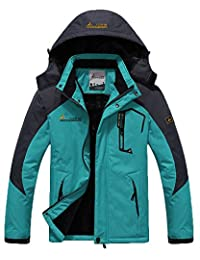 HengJia Men's Waterproof Mountain Jacket Fleece Lined Windproof Skiing Jacket