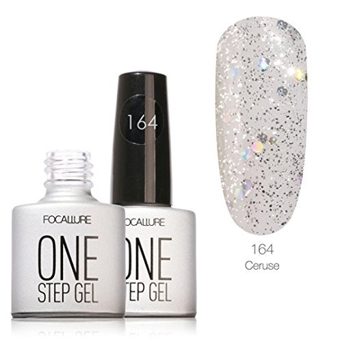 Clearance Sale! Nail Polish,Caopixx Solid Color Painted Fast Dry Long Effect Nail Art Nail Polish (D) (Gel Fantasy Coat)