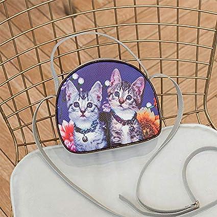 Gebuter Ladies Print Handbag PU Leather Large Capacity Mobile Wallet Crossbody Bag
