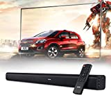 Soundbar, AKIXNO 3 EQ Mode 40W Home Theater Audio Speaker for TV, Wired & Wireless Bluetooth 4.0 Stereo Sound Bar, Optical/RCA/Line-in Connection, Wall Mountable, Remote Control - 33-Inch