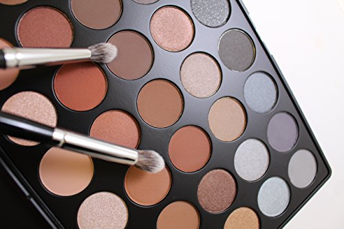 MORPHE Pro 35 Color Eyeshadow Makeup Palette - Koffee Palette 35K - Professional shimmer coffee eyeshadow palette with intense pigment