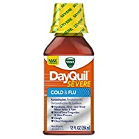Vicks DayQuil SEVERE Cold and Flu Relief, Cold & Flu Liquid, 12 Fl Oz