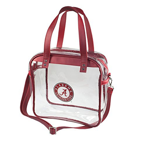 University of Alabama Crimson Tide Capri Designs Clearly Fashion Licensed Clear Carryall Tote Meets Stadium Requirements by CLEARLY FASHION