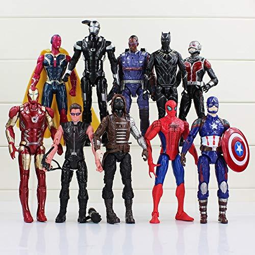 WEKIPP The Civil Man Ant-Man Falcon Bucky Vision Man Machine PVC Action Figures -Multicolor Complete Series Merchandise