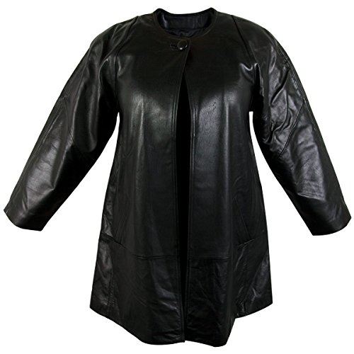 Ladies Lucky Leather 83 Soft Touch Supple Lambskin Collarless Leather Coat with - 2X-Large - Lamb Coat
