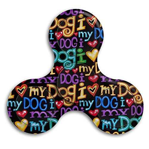 Tri-Spinner Bart Dog Words Black Fidget Spinner Fidget Toys For Adult And Kids -Perfect For ADD,ADHD,and Anxiety