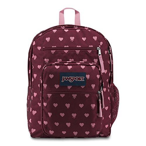 JanSport Big Student Backpack - Russet Red Bleeding Hearts - Oversized