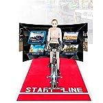 ZoSiP-Spin-Bike-Veicoli-Formazione-Professionale-Indoor-Indoor-Cyclette-Imbottito-Braccio-di-Supporto-Comfort-Sedile-Fitness-Tempo-Libero-noleggio-Bici-Color-Black-Size-100x50x118cm