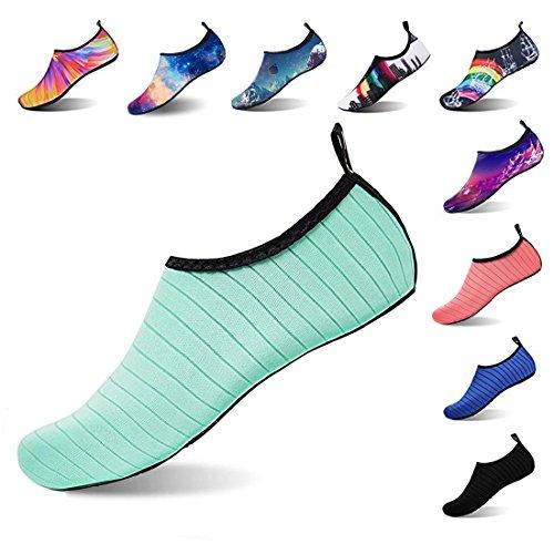 Beach Cruise Water blue Athletic Swimming Lightweight Stripes Aptro Women's L Socks Barefoot And Men's Shoes Aqua s1 Kayaking PwvaA