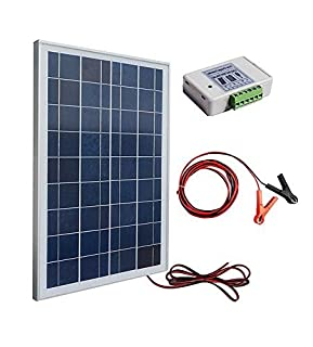 ECO-WORTHY 12 Volt 25 Watt Solar Kits: 1pc 25W Polycrystalline PV Solar Panel Module with 3 Feet Wire + 30A Battery Clips with 6 Feet Extension Cable + 3A 12V/24V Solar Controller