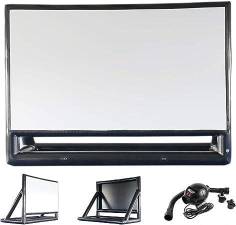 Sayok Pvc Airtight Inflatable Projection Movie Screen Amazon Co Uk Electronics