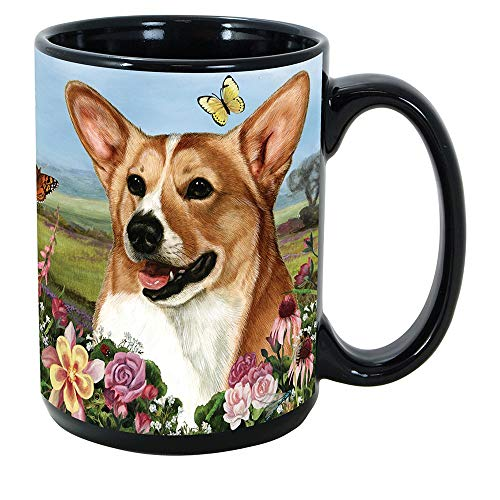 Imprints Plus Dog Breeds (A-D) Corgi 15-oz Coffee Mug Bundle with Non-Negotiable K-Nine Cash (corgi 067)