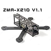 ZMR-X210 V1.1 210mm Carbon Fiber Mini FPV Quadcopter Frame Kit with PCB Board ,HS1177 Style Camera Mount Featuring an X Design