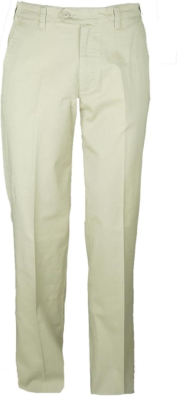 Pantalone uomo taglia 46 48 50 52 54 56 58 60 cotone elasticizzato beige  RAY
