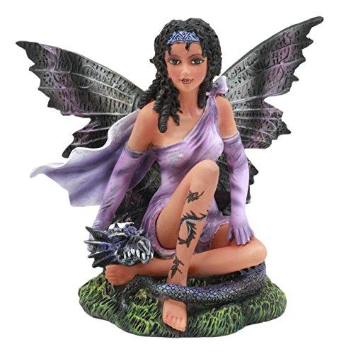 Ebros Beautiful Tribal Ebony Moth Fairy with