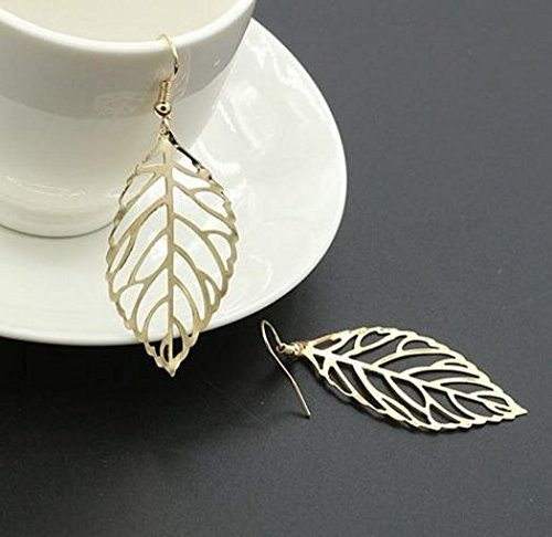 Leaf Drop Earrings For Women Fish Hook Plant Dangle Earrings Fashion