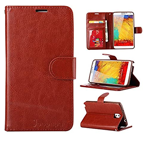 Note 3 Case, Galaxy Note 3 Case, Joopapa Galaxy Note 3 Luxury Fashion Pu Leather Magnet Wallet Flip Case Cover with Built-in Credit Card/ID Card Slots for Samsung Galaxy Note 3 N9000 (Galaxy 3 Phone Flip Cases)