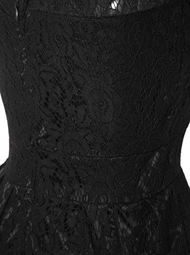 Vickyben - Vestido - para mujer negro