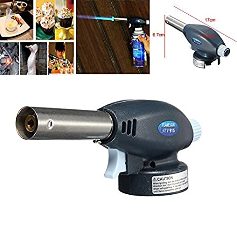[Free Shipping] Gas Torch Flamethrower Butane Burner Auto Ignition Camping BBQ Tools //