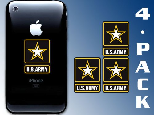 4-Pack US Army Star Logo Cell Phone Stickers (U.S. soldier)