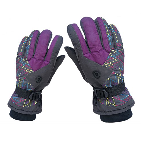 BXT Men's Winter Ski Snowboard Snow Cycling Motorcycle Bike Riding Climbing Mountaineering Anti-skid Warm Gloves Outdoor Sport Waterproof Windproof Thick Thermal Skiing Gloves with Adjustable Cuffs
