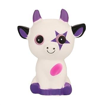 Juguete Squishy Squeeze Ox Horn Cat Cream Bread Scented, YanHoo encantador suave Giratorio Azucarado y