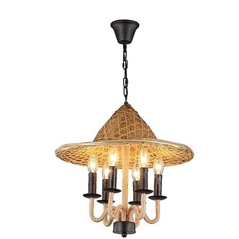 Lámpara colgante, luz de techo Embedded-La mitad retro alambre ...