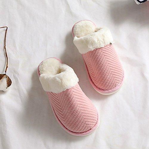 Hausschuhe Frauen EU 38 37 Innen Foam Komfort Coral Haus Nonslip Blau und Butterme Frauen Schuhe Schlafzimmer Fleece Männer Plüsch Blau M Short Schuhe Memory Futter Frauen für Bz7qFAw