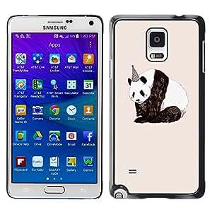 X-ray Impreso colorido protector duro espalda Funda piel de Shell para Samsung Galaxy Note 4 IV / SM-N910F / SM-N910K / SM-N910C / SM-N910W8 / SM-N910U / SM-N910G - Birthday Sad Nature Animals Rights
