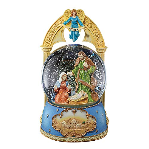 Collections Etc Musical Nativity Snow Globe Christmas Tabletop Decoration - Plays Silent ()