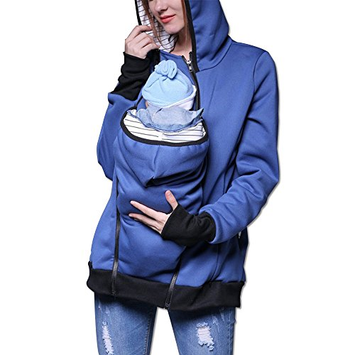FQHOME Women's Maternity Kangaroo Hooded Sweatshirt For Baby Coat Jacket For Mom Carrier (M, - Blog Pregnancy Style