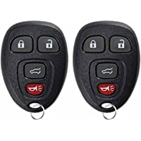 KeylessOption Keyless Entry Remote Control Car Key Fob Replacement 15913416 (Pack of 2)