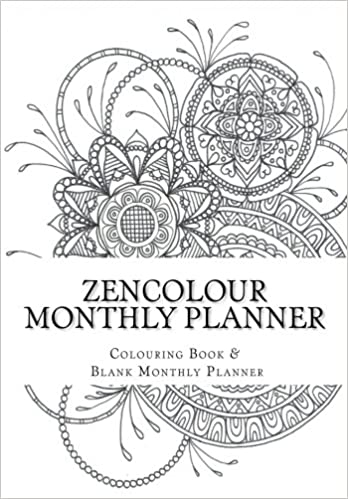Amazon Com Zencolour Monthly Planner Colouring Pages And