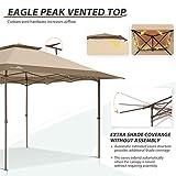 EAGLE PEAK 13'x13' Straight Leg Pop Up Canopy