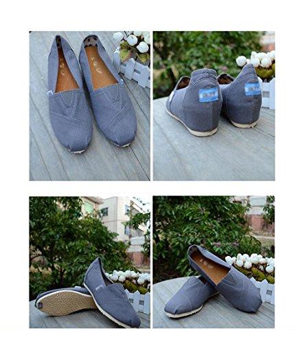 de des Chaussures en Chaussures Coin étudiants Chaussures Toile Chaussures Caoutchouc Dans Seule Matière ZFNYY L'Augmentation Tissu avqnItPqEw