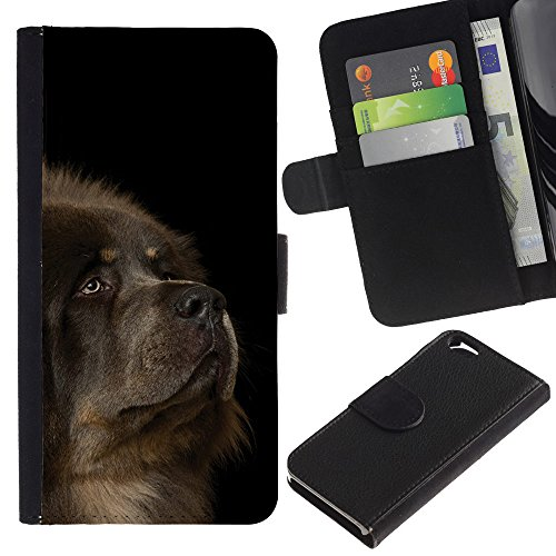 EuroCase - Apple Iphone 6 4.7 - tibetan mastiff caucasian sheepdog dog - Cuir PU Coverture Shell Armure Coque Coq Cas Etui Housse Case Cover