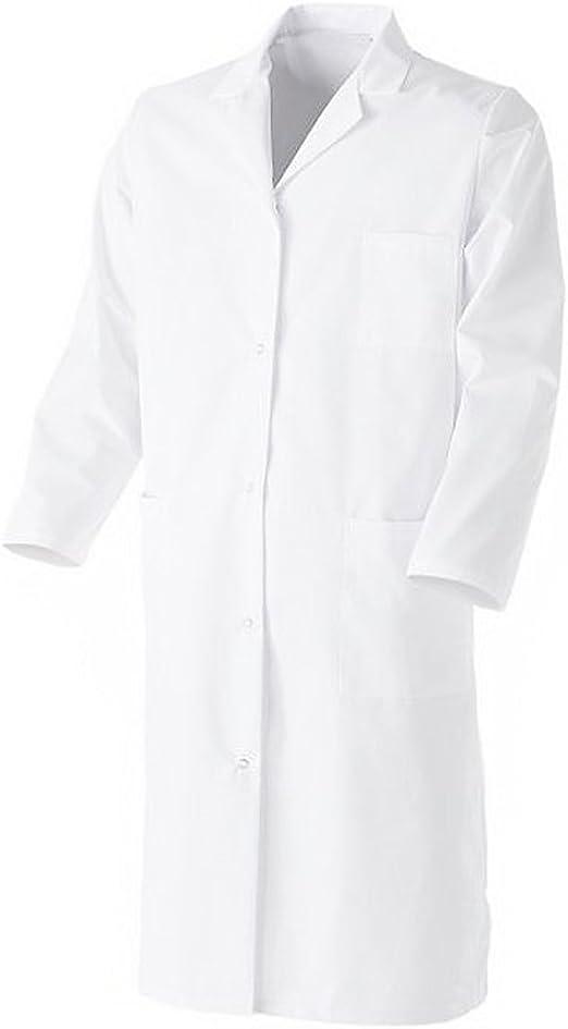 Bata blanca 100 % algodón de manga larga blanco 38 : Amazon.es: Ropa y accesorios