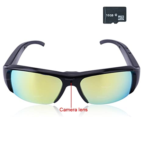 TEKMAGIC 16GB 1920x1080P HD Wearable Gafas Cámara Espía Mini DV Grabadora de Vídeo con la Función