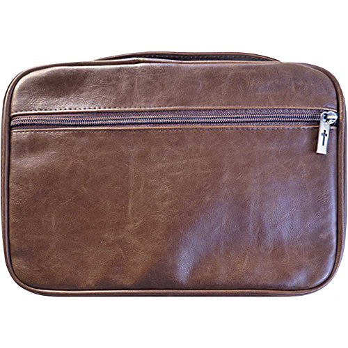 - Bible Cover - Distressed Leather Look-Extra Extra Large-Brown