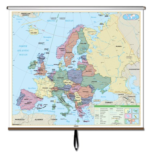 Europe America Essential Wall Map Roller (Essential Classroom Wall Maps)