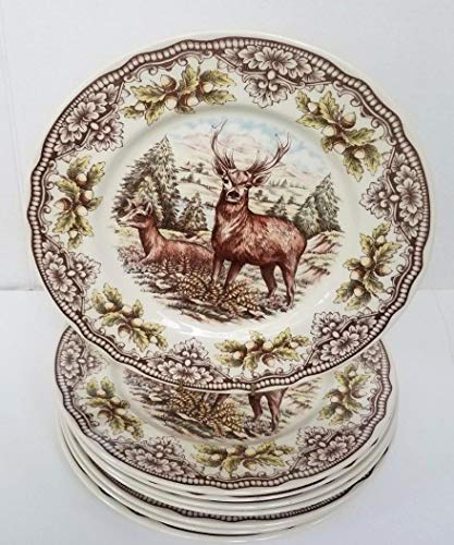 The Victorian English Pottery Thanksgiving Homeland Deer Dinner