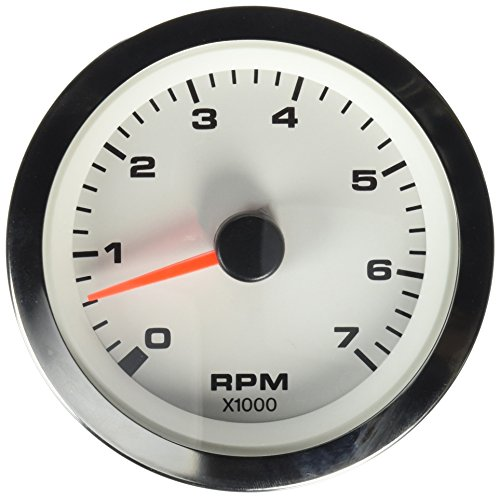 Sierra International 62561P White Premier Pro Electric Tachometer, 3