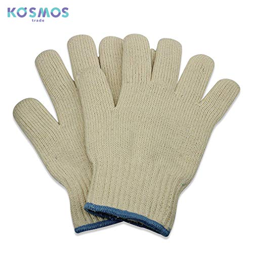 KOSMOS Trade Oven Cotton Gloves - Heat Resistant BBQ and Oven High Temp Gloves - 2 -