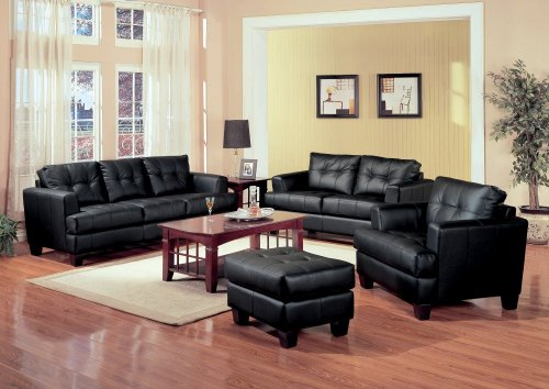 Leather Sofa Set Piece Coaster