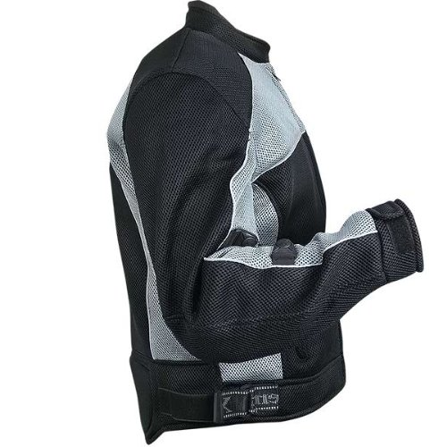 Xelement CF511 Mens Black Armored Mesh Sports Jacket - Small by Xelement (Image #3)