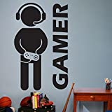 Customwallsdesign Video Game Gaming Gamer Wall Decal Art Decor Sticker VInyl gamer decal by customwallsdesign