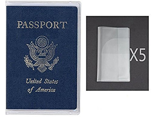 Exuun Plastic Passport Cover Passport Protector Passport Sleeve Sheet For Us Passport Uk Passport Cn Passport Etc  Pack Of 5   Transparent Clear
