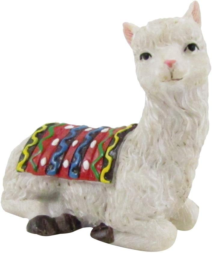 TG,LLC Treasure Gurus Miniature Llama Fairy Garden Figurine Accessory Alpaca Dollhouse Decor Landscape Ornament
