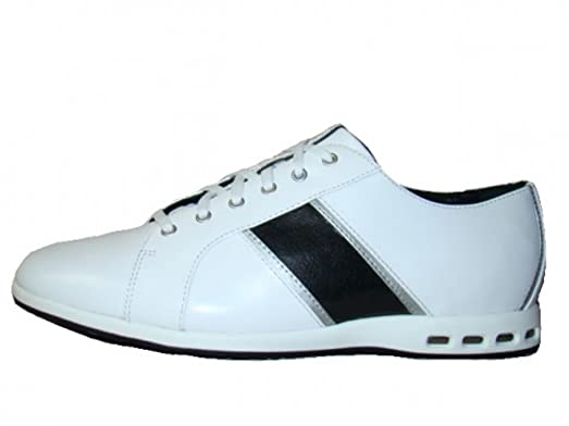 Rockport Torsion System by Adidas Jepson APM2785Y Leather Sneaker Lace  white / black, EU Shoe