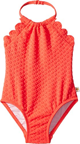 Kate Spade New York Kids Baby Girl's Scalloped One-Piece (Infant) Surprise Coral 18 Months -  93E06040-82-820